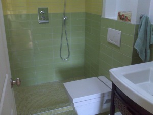 S1 - rainhead shower & radiant heated floor